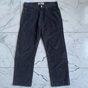 Levis Gray Corduroy Loose Straight Fit 569 Jeans